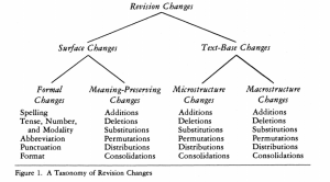 Faigley and Witte's taxonomy. See full description below image